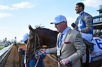 LEXINGTON, KY - APRIL 09: #6 Brody's Cause and jockey Luis Saez win the 92nd running of the Toyota Blue Grass Stakes a $1,000,000 Grade I Derby Prep race at Keeneland race course, for owner Albaugh Family Stable, and trainer Dale Romans on April 9, 2016 in Lexington, Kentucky. (Photo by Samantha Bussanich/Eclipse Sportswire/Getty Images)