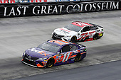Monster Energy NASCAR Cup Series<br /> Food City 500<br /> Bristol Motor Speedway, Bristol, TN USA<br /> Monday 24 April 2017<br /> Denny Hamlin, FedEx Freight Toyota Camry Erik Jones, Sport Clips Toyota Camry<br /> World Copyright: Matthew T. Thacker<br /> LAT Images<br /> ref: Digital Image 17BMS1mt1457