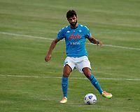 Sebastiano Luperto durante il Triangolare precampionato nel ritiro estivo  tra Napoli , L'Aquila e il Castel Di Sangro allo stadio Patini