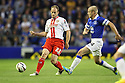 David Gray of Stevenage evades Steven Naismith of Everton<br />  - Everton v Stevenage - Capital One Cup Second Round - Goodison Park, Liverpool - 28th August, 2013<br />  © Kevin Coleman 2013