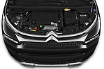 Car Stock 2022 Citroen C3-Aircross Shine 5 Door SUV Engine  high angle detail view