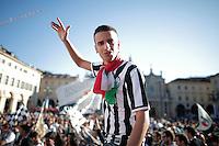 Festeggiamenti Scudetto dei tifosi della Juventus in centro a Torino, Celebration, Torino 4-4-2014, Football Calcio 2013/2014 Serie A, Foto Marco Bertorello/Insidefoto <br /> Celebration for Juventus Victory of Italian championship.