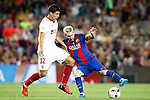 FC Barcelona's Leo Messi (r) and Sevilla FC's Diego Gonzalez during Supercup of Spain 2nd match.August 17,2016. (ALTERPHOTOS/Acero)