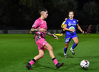 Ylenia Carabott (7 Charleroi) pictured during a female soccer game between  AA Gent Ladies and Sporting Charleroi Feminin on the fifth matchday of the 2020 - 2021 season of Belgian Scooore Womens Super League , friday 16 th of October 2020  in Oostakker , Belgium . PHOTO SPORTPIX.BE | SPP | DAVID CATRY