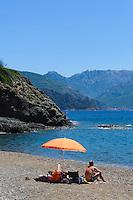 Plage de Gradelle am Golf von Porto, Korsika, Frankreich