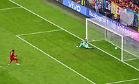 2nd July 2021; Allianz Arena, Munich, Germany; European Football Championships, Euro 2020 quarterfinals, Belgium versus Italy;  <br /> Romelu Lukaku, Belgium  scores, for 1-2 from the Penalty kick