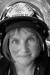A Firewoman in her Helmet