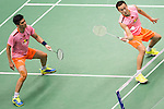 Haifeng Fu and China<br /> Nan Zhang of China competes during the Semi Final of the Yonex Open Chinese Taipei 2015 at the Taipei Arena on 18 July 2015 in Taipei, Taiwan. Photo by Aitor Alcalde / Power Sport Images