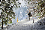 Germany, Upper Bavaria, Chiemgau, between Ruhpolding and Siegsdorf: winter scenery, walking | Deutschland, Oberbayern, Chiemgau, zwischen Siegsdorf und Ruhpolding: Winterspaziergang