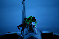 Ground crew duct taping the cockpit of a German Air Force BAe Tornado to protect it against the rain. BOLD AVENGER 2007 (BAR 07), a NATO  air exercise at Ørland Main Air Station, Norway. BAR 07 involved air forces from 13 NATO member nations: Belgium, Canada, the Czech Republic, France, Germany, Greece, Norway, Poland, Romania, Spain, Turkey, the United Kingdom and the United States of America. The exercise was designed to provide training for units in tactical air operations, involving over 100 aircraft, including combat, tanker and airborne early warning aircraft and about 1,450 personnel.