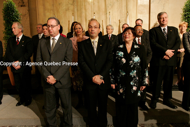 Claude Dauphin, Frank Zampino, 2005<br /> <br /> PHOTO : Agence Quebec Presse