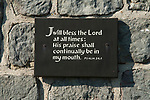 """Psalm 34,1 on a plaque at the top of the St Andrew's Church Tower Fairlight, East Sussex, England. """"I will bless the LORD at all times: his praise shall continually be in my mouth""""."""