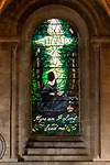 Pictured: 'The Calling Window' by artist Sophie Hacker which has been newly installed in the Abbey near Southampton, Hants.<br /> <br /> The stained glass window commemorates the bicentenary of Florence Nightingale, and depicts her seated on a stone bench in the grounds of her family home, Embley Park, showing the moment when she said she was called to God's service, aged 16.<br /> <br /> The window, which took over 2 years to design and make, will have a special dedication service currently scheduled for May 2021, which has been delayed due to the coronavirus pandemic. <br /> <br /> © Jordan Pettitt/Solent News & Photo Agency<br /> UK +44 (0) 2380 458800