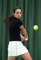 10-3-06, Netherlands, tennis, Rotterdam, National indoor junior tennis championchips, Carmen Pop