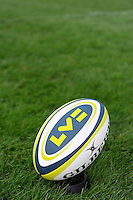Branded match ball at the LV= Cup second round match between Ospreys and Northampton Saints at Riverside Hardware Brewery Field, Bridgend (Photo by Rob Munro)
