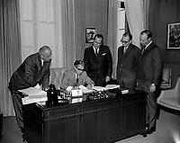 Le premier ministre Jean-Jacques Bertrand,<br /> le 13 aout 1968<br /> <br /> Photographe : Photo Moderne<br /> - Agence Quebec Presse