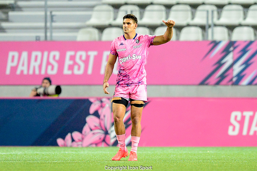 Pablo MATERA of Stade Francais during the Top 14 match between Stade Francais and Bayonne at Stade Jean Bouin on October 02, 2020 in Paris, France. (Photo by Sandra Ruhaut/Icon Sport) - Stade Jean Bouin - Paris (France)