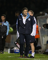 Gareth Ainsworth manager of Wycombe Wanderers during the Johnstone's Paint Trophy match between Bristol Rovers and Wycombe Wanderers at the Memorial Stadium, Bristol, England on 6 October 2015. Photo by Andy Rowland.