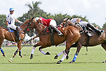 WELLINGTON, FL - MARCH 26: Valiente's patron, Bob Jornayvaz supports Matias Torres Zavaleta as he tries to take the ball from Coca Cola's Julian de Lusarreta (red jersey) as Valiente comes from behind to defeat Coca Cola 9-6 in the final of the 26 goal USPA Gold Cup, at the International Polo Club, Palm Beach on March 26, 2017 in Wellington, Florida. (Photo by Liz Lamont/Eclipse Sportswire/Getty Images)