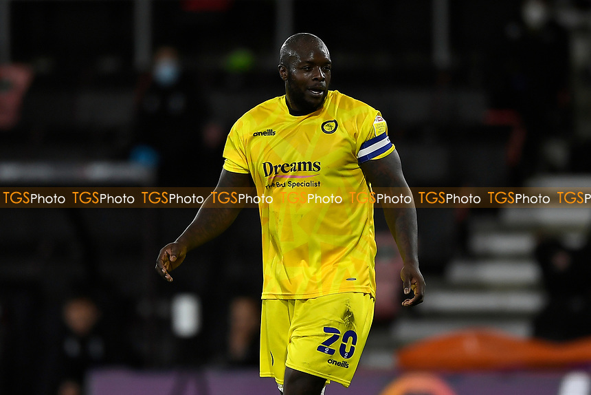 Adebayo Akinfenwaof Wycombe Wanderers  during AFC Bournemouth vs Wycombe Wanderers, Sky Bet EFL Championship Football at the Vitality Stadium on 15th December 2020