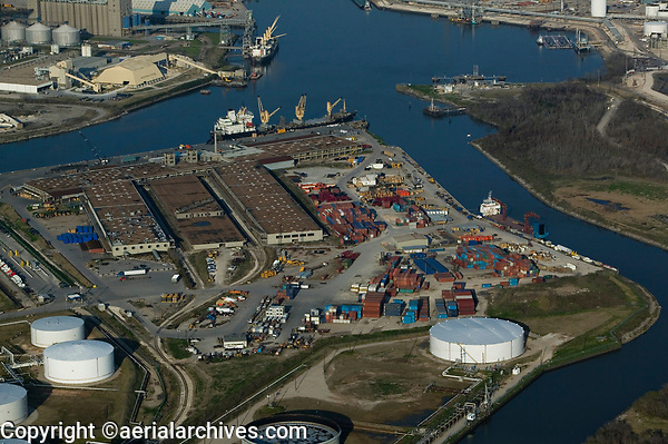 aerial photograph United States Gypsum, Houston Shipping Channel, Port of Houston, Texas