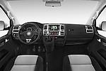 Stock photo of straight dashboard view of a 2014 Volkswagen CARAVELLE COMFORTLINE 4 Door Passenger Van Dashboard