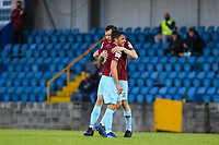 Ben O'Riordan and James McCarthy of Cobh Ramblers at full time.<br /> <br /> Cobh Ramblers v Cork City, SSE Airtricity League Division 1, 28/5/21, St. Colman's Park, Cobh.<br /> <br /> Copyright Steve Alfred 2021.