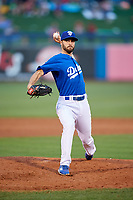 Tulsa Drillers relief pitcher Michael Johnson (3) delivers a pitch during a game against the Corpus Christi Hooks on June 3, 2017 at ONEOK Field in Tulsa, Oklahoma.  Corpus Christi defeated Tulsa 5-3.  (Mike Janes/Four Seam Images)