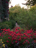 The garden at Sissinghurst Castle, now overseen by the National Trust, is a neat, pared-back version of the overgrown design, which had its heyday in the 1940s