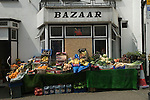 Pub closed down called the Huntsman Now a green grocers shop called Bazaar. Cornwall 2016 UK