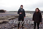 Researchers for the 'Llŷn Iveragh Ecomuseums' project working on the Iveragh Peninsula pictured here at the Inny Strand, Waterville l-r;Fiach Byrne & Anna Collyer.