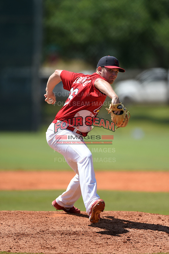 St. Louis Cardinals pitcher Steven Sabatino (26) during a minor league spring training game against the Miami Marlins on March 31, 2015 at the Roger Dean Complex in Jupiter, Florida.  (Mike Janes/Four Seam Images)
