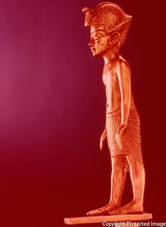 Egypt:  Gold Staff--gold and silver.  Treasures of Tutankhamun, Cairo Museum.   MMA 1976.