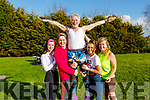 Mary Ann, Tadgh, Derry, Sadhbh and Maureen Fleming doing their newest dance craze at home on Monday.