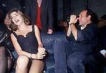 """CARLO VERDONE CON CLAUDIA GERINI<br /> """"DONNA SOTTO LE STELLE"""" TRINITA' DEI MONTI ROMA 1996"""
