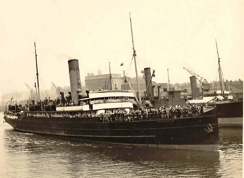 The Glasgow-Derry steamer Rose was built in 1902, and became much-used by the people of Donegal in going to Scotland to search for work