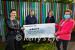 Members of the Tralee Rotary Club presented a cheque in the amount of €1,500:00 to the Adapt Women's Refuge on Tuesday at the Centre. Front l to r: Sharon Hayes (President Tralee Rotary Club) and Bridget O'Donnell (Adapt Refuge Centre). Back l to r: Danny Giles and Grace O'Donnell.