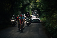 breakaway group consisting of TT masters Tony Martin (DEU/Katusha-Alpecin) & Vasil Kiryienka (BLR/SKY) who're turning this stage into a serious pre-Worlds TT training and who are joined by James Shaw (GBR/Lotto-Soudal) & Connor Swift (GBR/Madison-Genesis) in the proces<br /> <br /> Up Whinlatter Pass.<br /> <br /> Racing in/around Lake District National Parc / Cumbria<br /> <br /> Stage 6: Barrow-in-Furness to Whinlatter Pass   (168km)<br /> 15th Ovo Energy Tour of Britain 2018