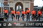 CCC Team at sign on before the start of the 82nd edition of Gent-Wevelgem 2020 running 232km from Ypres to Wevelgem, Belgium. 11th October 2020.  <br /> Picture: Colin Flockton   Cyclefile<br /> <br /> All photos usage must carry mandatory copyright credit (© Cyclefile   Colin Flockton)