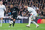 Real Madrid Sergio Ramos and PSG Neymar Jr during Eight Finals Champions League match between Real Madrid and PSG at Santiago Bernabeu Stadium in Madrid , Spain. February 14, 2018. (ALTERPHOTOS/Borja B.Hojas)