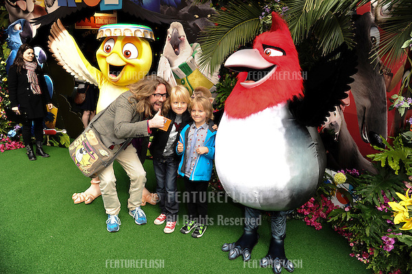 """Justin Lee Collins<br /> arives for the """"Rio 2"""" Screening at the Vue cinema Leicester Square, London. 30/03/2014 Picture by: Steve Vas / Featureflash"""