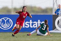 Bradenton, FL - Sunday, June 12, 2018: Sunshine Fontes, goal celebration during a U-17 Women's Championship Finals match between USA and Mexico at IMG Academy.  USA defeated Mexico 3-2 to win the championship.