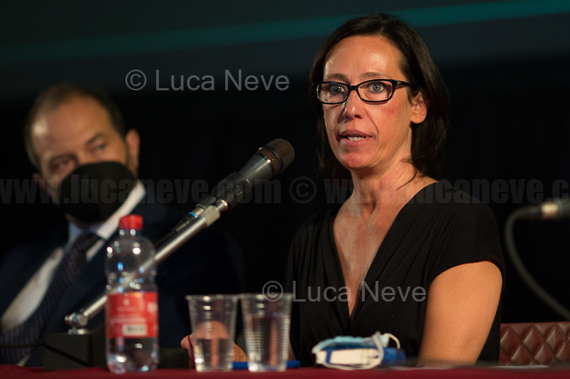 """Ilaria Cucchi.<br /> <br /> Genova'01 Twenty Years After, Another World Is Necessary's Conference: """"The Protection Of The Inviolable Rights Of Those Subject To The Restriction Of The Personal Freedom: Truth And Justice For Emanuel Scalabrin"""" [Person who died in Carabinieri's (police) custody in the North of Italy on the 4th December 2020, ndr, 4.] (5.) - Speakers of the event, amongst others, were: the Aunt of Emanuel Scalabrin; Gabriella Branca, lawyer of Scalabrin's Family; Ilaria Cucchi, Sister of Stefano Cucchi, beaten to death while in police custody in Rome in 2009 (6.); Fabio Anselmo, Lawyer of Cucchi's Family.<br /> <br /> Genoa, Italy. 19, 20, 21 July 2021. Twenty years after the dramatic and terrifying events related to the 2001 Genoa's G8 meeting, according to Amnesty International: """"the most serious suspension of democratic rights in a Western country since the Second World War"""" (1.) and as stated on the 2001 """"Report on the situation of fundamental rights in the EU"""" the European Parliament """"deplores the suspensions of fundamental rights that took place during public demos, and in particular at the G8 meeting in Genoa, such as freedom of expression, freedom of movement, the right to physical integrity"""" (2.). As a reminder, the City of Genoa is State Gold Medal (Medaglia D'Oro) for its Antifascist Resistance in World War II.<br /> Some photos, part of this story, are presented appositely in Black & White to show to the audience """"the Places"""" where the majority of - the already mentioned (see above) - """"suspensions of fundamental rights […] such as freedom of expression, freedom of movement, the right to physical integrity"""" (2.) happened.<br /> In these three days, throughout a series of events, Genoa and its People, survivors and witnesses, experts and activists, remembered what happened 20 years ago, discussed...<br /> <br /> FULL CAPTION & LINKS AT THE BEGINNING OF THIS STORY.<br /> <br /> Footnotes, Links:<br /> 3. http://bit.do/fRvdj<br /> 4. http://bit."""