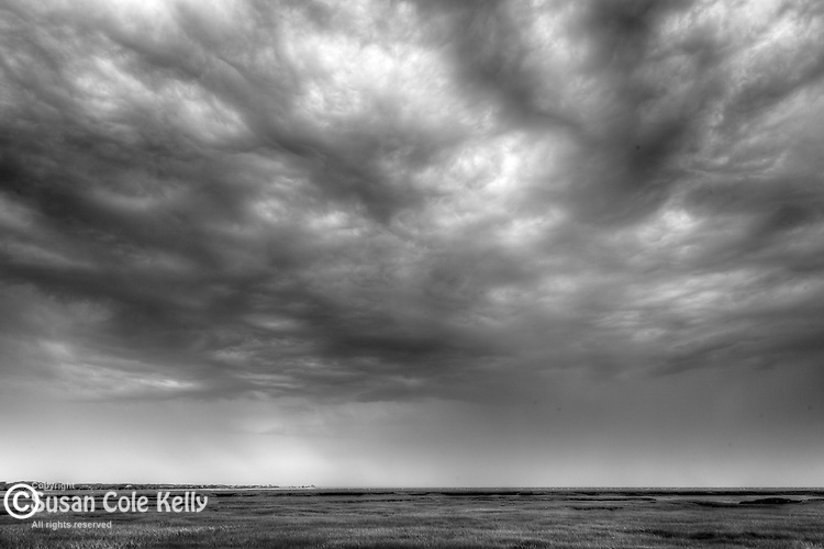 Storm clouds at Wellfleet Bay Audubon Sanctuary in Wellfleet, Cape Cod, MA, USA