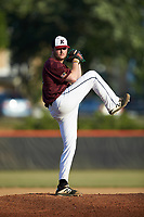 Kannapolis Post 115 starting pitcher Ryan O'Kelly (20) in action against Mooresville Post 66 during an American Legion baseball game at Northwest Cabarrus High School on May 30, 2019 in Concord, North Carolina. Mooresville Post 66 defeated Kannapolis Post 115 4-3. (Brian Westerholt/Four Seam Images)