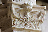 Europe/France/Aquitaine/47/Lot-et-Garonne/Marmande: Église Notre-Dame de Marmande : Le Cloître - Détail d'un chapiteau