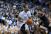 CHAPEL HILL, NC - MARCH 03: Garrison Brooks #15 of the University of North Carolina holds the ball during a game between Wake Forest and North Carolina at Dean E. Smith Center on March 03, 2020 in Chapel Hill, North Carolina.