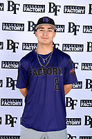 Esteban Nakashima (8) of Martin Luther King Jr High School in Riverside, California during the Baseball Factory All-America Pre-Season Tournament, powered by Under Armour, on January 12, 2018 at Sloan Park Complex in Mesa, Arizona.  (Mike Janes/Four Seam Images)
