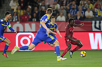 Carson, CA - Sunday January 28, 2018: CJ Sapong during an international friendly between the men's national teams of the United States (USA) and Bosnia and Herzegovina (BIH) at the StubHub Center.