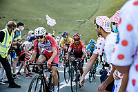Guillaume Martin (FRA/Cofidis) and  Naïro Quintana (COL/Arkea-Samsic) up the Col de Peyresourde<br /> <br /> Stage 8 from Cazères-sur-Garonne to Loudenvielle 141km<br /> 107th Tour de France 2020 (2.UWT)<br /> (the 'postponed edition' held in september)<br /> ©kramon
